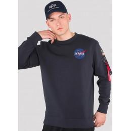 Mikina ALPHA INDUSTRIES Space shuttle sweatshirt dark blue