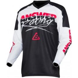 MX dres na motorku ANSWER Syncron Pro Glow black/white/pink