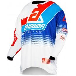 MX dres na motorku ANSWER Elite Korza white/blue/red