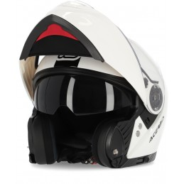 Prilba na motorku ACERBIS Rederwel P/J white