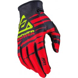 MX rukavice na motorku ANSWER AR1 Pro Glow black/red