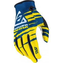 MX rukavice na motorku ANSWER AR1 Pro Glow blue/white/yellow