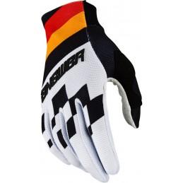 MX rukavice na motorku ANSWER AR2 Korza white/black/red
