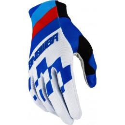 MX rukavice na motorku ANSWER AR2 Korza whitte/blue/red