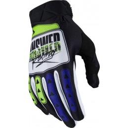 MX rukavice na motorku ANSWER AR3 Korza black/white/fluoyellow