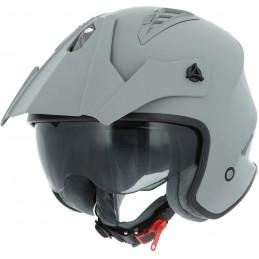 Prilba na motorku ASTONE Minicross grey matt