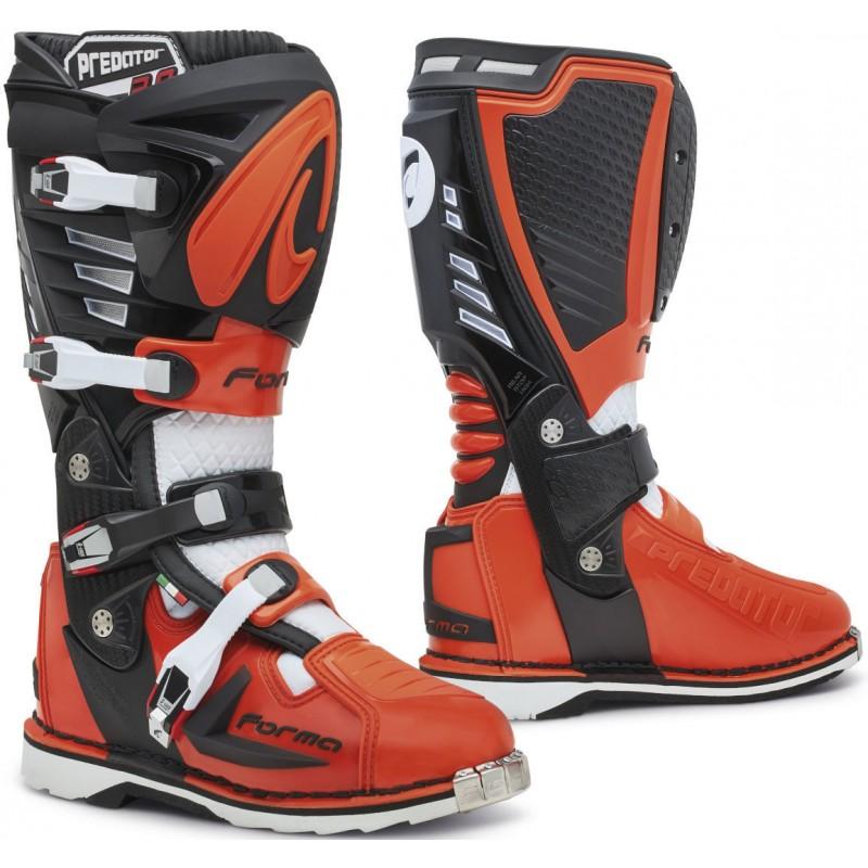 Topánky na motorku FORMA Predator 2.0 black/white/orange
