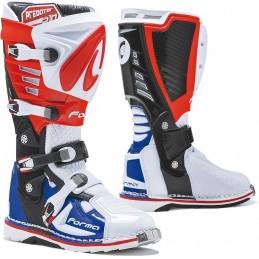 Topánky na motorku FORMA Predator 2.0 white/red/blue