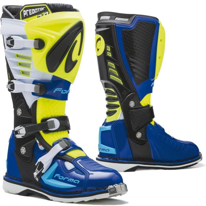 Topánky na motorku FORMA Predator 2.0 yellow/blue