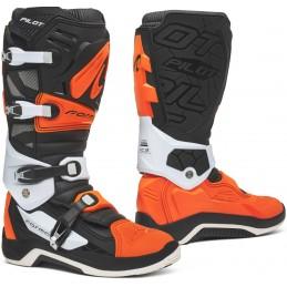Topánky na motorku FORMA Pilot black/white/orange