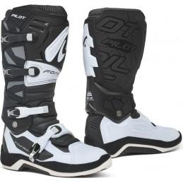 Topánky na motorku FORMA Pilot black/white