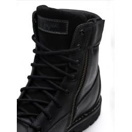 Topánky na motocykel kožené BROGER alaska čierne