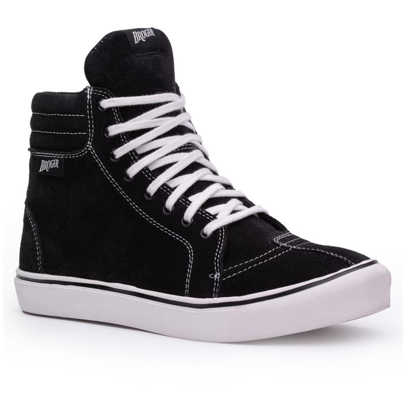 Topánky na motocykel kožené BROGER california čierno-biele