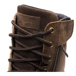 Topánky na motocykel kožené BROGER alaska hnedé
