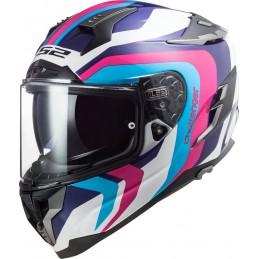 Prilba na motorku LS2 FF327 Challenger Galactic white blue pink