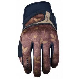 Dámske rukavice na motorku FIVE RS3 REPLICA flower brown