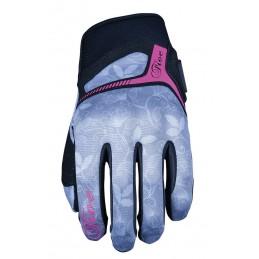 Dámske rukavice na motorku FIVE RS3 REPLICA Flowers grey