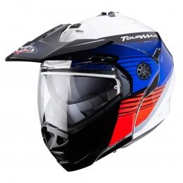 Prilba na motorku CABERG Tourmax Enduro Titan white blue red
