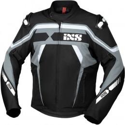 Bunda na motorku IXS Sport RS-700-ST black/grey/white