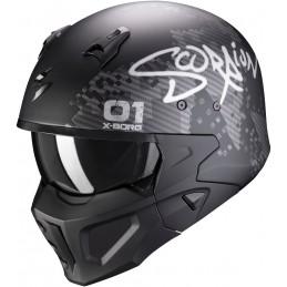 SCORPION EXO prilba na motorku Covert-X Xborg matt black silver