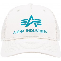 Alpha Industries šiltovka Basic Trucker cream white