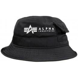 Alpha Industries klobúk Utility black white