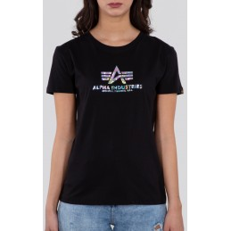 Alpha Industries dámske tričko New Basic Holo black