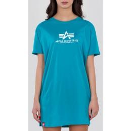 Alpha Industries dámske tričko Basic long turquoise