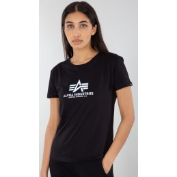 Alpha Industries dámske tričko New Basic Reflective black