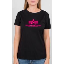 Alpha Industries dámske tričko New Basic Neon black pink