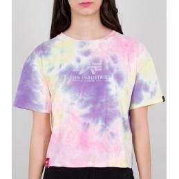 Alpha Industries dámske tričko Basic Batik COS purple yellow