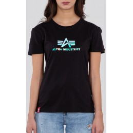 Alpha Industries dámske tričko Rainbow black