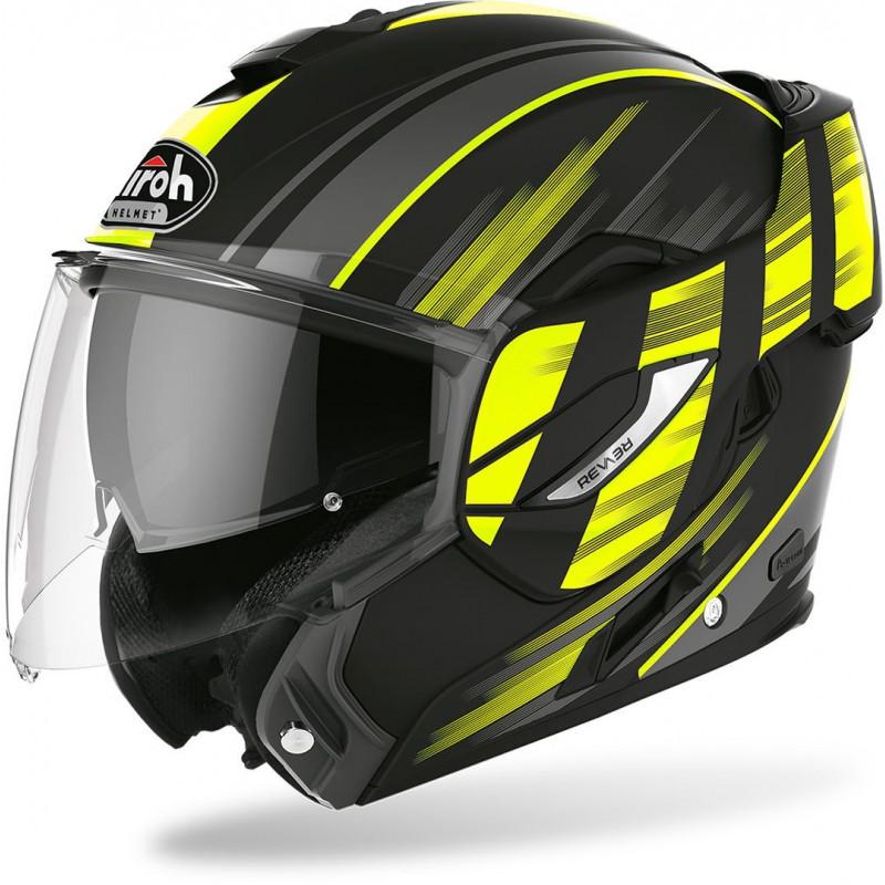 Prilba na motorku AIROH Rev19 Ikon black yellow