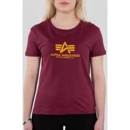 Alpha Industries dámske tričko Basic burgundy