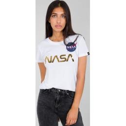 Alpha Industries dámske tričko NASA PM white