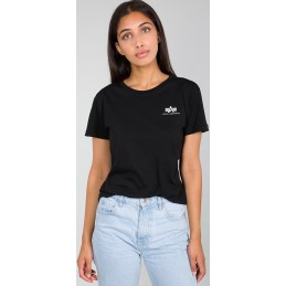Alpha Industries dámske tričko Basic Small logo black