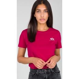 Alpha Industries dámske tričko Basic Small logo deep pink
