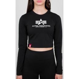 Alpha Industries dámske tričko Basic Cropped black
