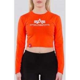 Alpha Industries dámske tričko Basic Cropped orange
