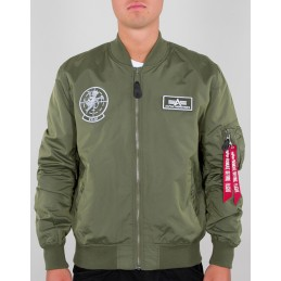Alpha Industries pánska bunda MA-1 TT Glow In The Dark military green