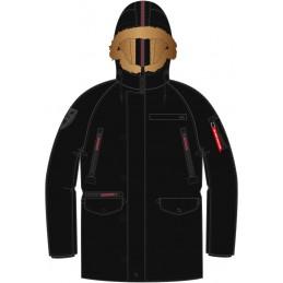 Alpha Industries pánska bunda PPS N3B black red