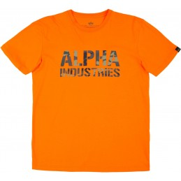 Alpha Industries pánske tričko Camo Print orange