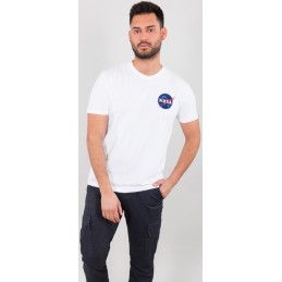 Alpha Industries pánske tričko Space Shuttle white