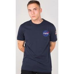 Alpha Industries pánske tričko Space Shuttle dark blue