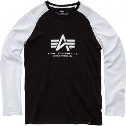 Alpha Industries pánske tričko Basic Longsleeve black white