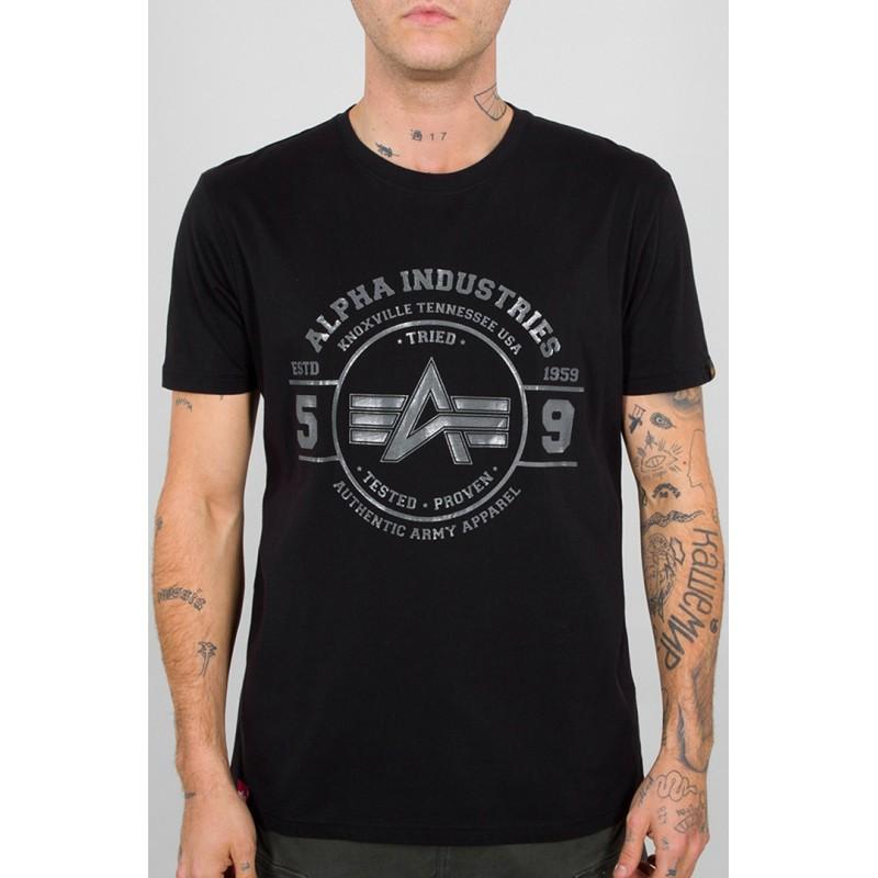 Alpha Industries pánske tričko Authentic Vinyl black