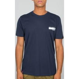 Alpha Industries pánske tričko Blount Ave dark blue