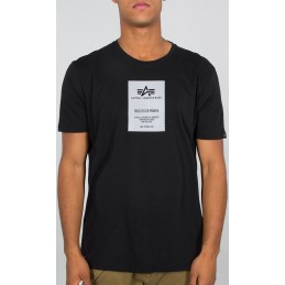 Alpha Industries pánske tričko Reflective Label black