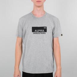 Alpha Industries pánske tričko Box Logo grey