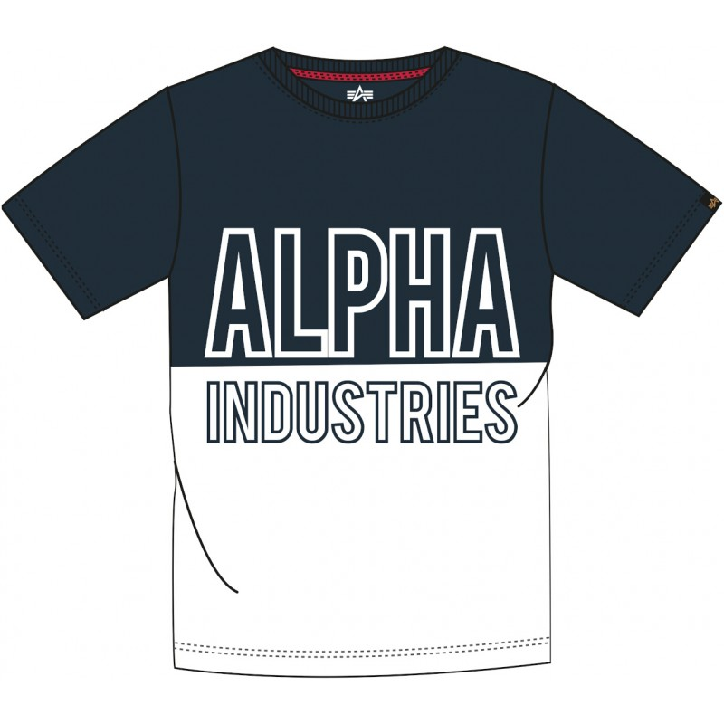 Alpha Industries pánske tričko Block dark blue